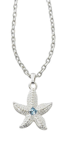 Starfish with Swarovski Stone Necklace NK520