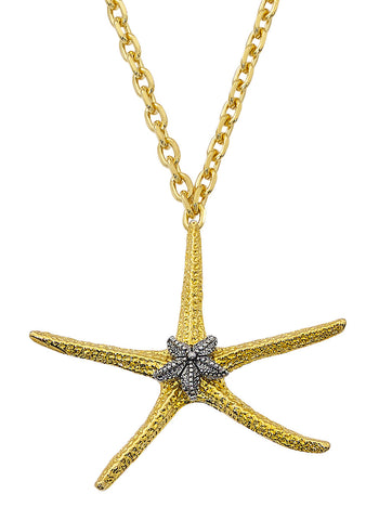 Two Tone Starfish Necklace NK543