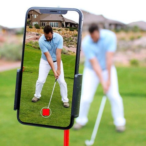 Golf Cell Phone Clip Holder and Training Aid to Video Record Swing