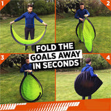 Portable Kids Soccer Goals 8 Training Disc Cones Extra Pegs