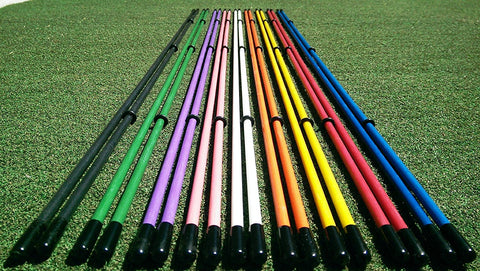 3 pcs Golf Alignment Sticks Training Aid