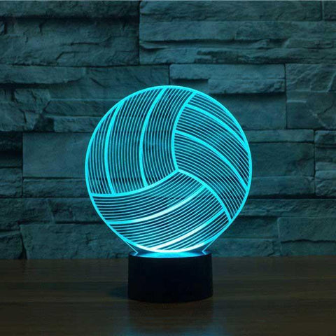 volleyball 3d led illusion lam