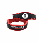 Golf Silicone Bracelet Black and Red Color T Woods