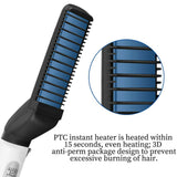 Professional Hair Straightener For Men Multifunctional Curling Electric Brush Beard Comb