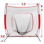 7x7Ft Bow Frame Baseball Softball Teeball Practice Batting Training
