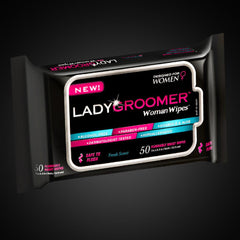 LADYGROOMER Woman Wipes - Fresh Scent - Flushable Moist Wipes Designed for Women