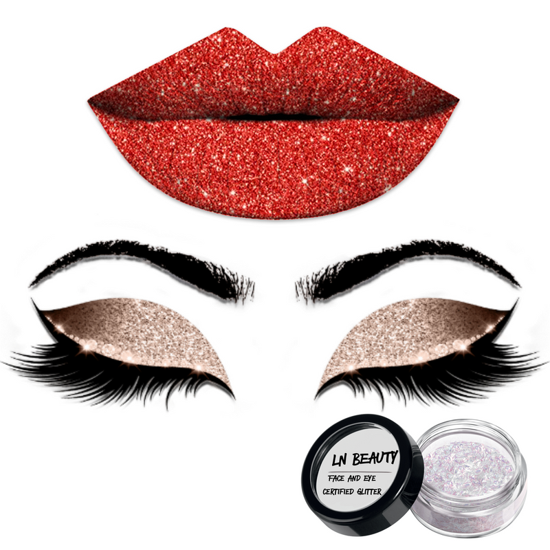 'Appealing' Face Lip and Eye Glitter Lexi Noel Beauty