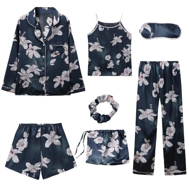 Angela 7 Pieces Pajamas Set - 5 / L