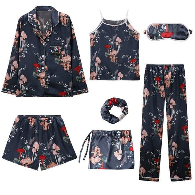 Angela 7 Pieces Pajamas Set - 6 / L