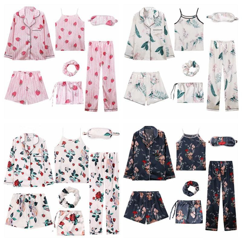 Angela 7 Pieces Pajamas Set