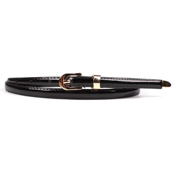 Bliss Fine Leather Waist Belt - Black