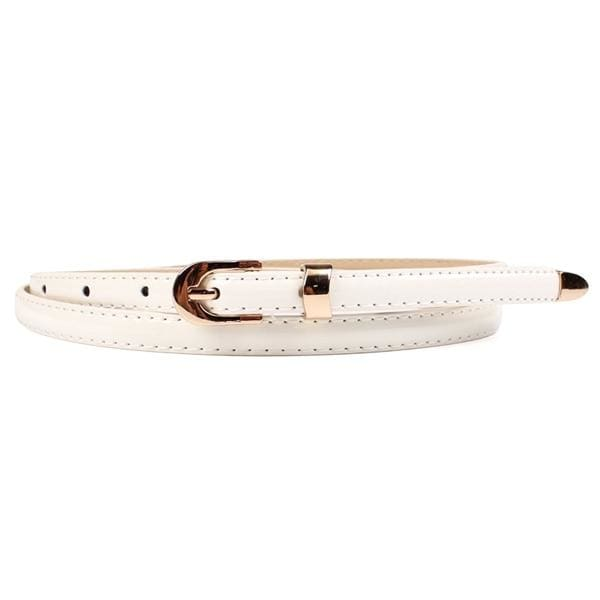 Bliss Fine Leather Waist Belt - White