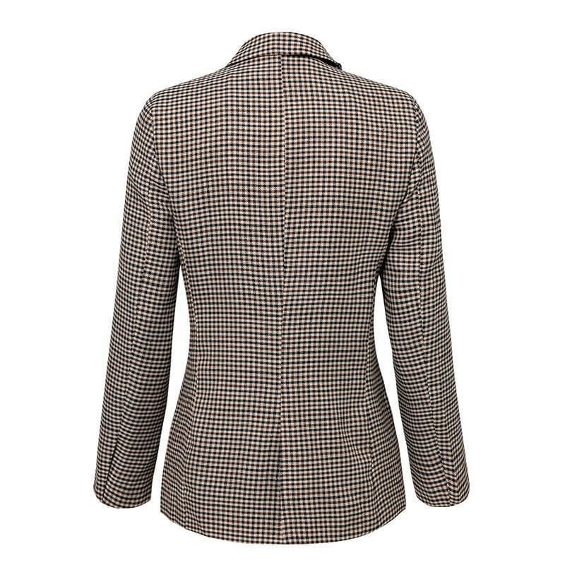 Brilliance Double Breasted Plaid Blazer
