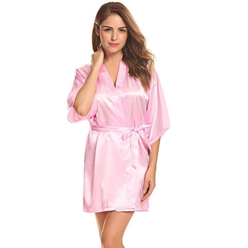 Classic Silk Satin Bathrobe