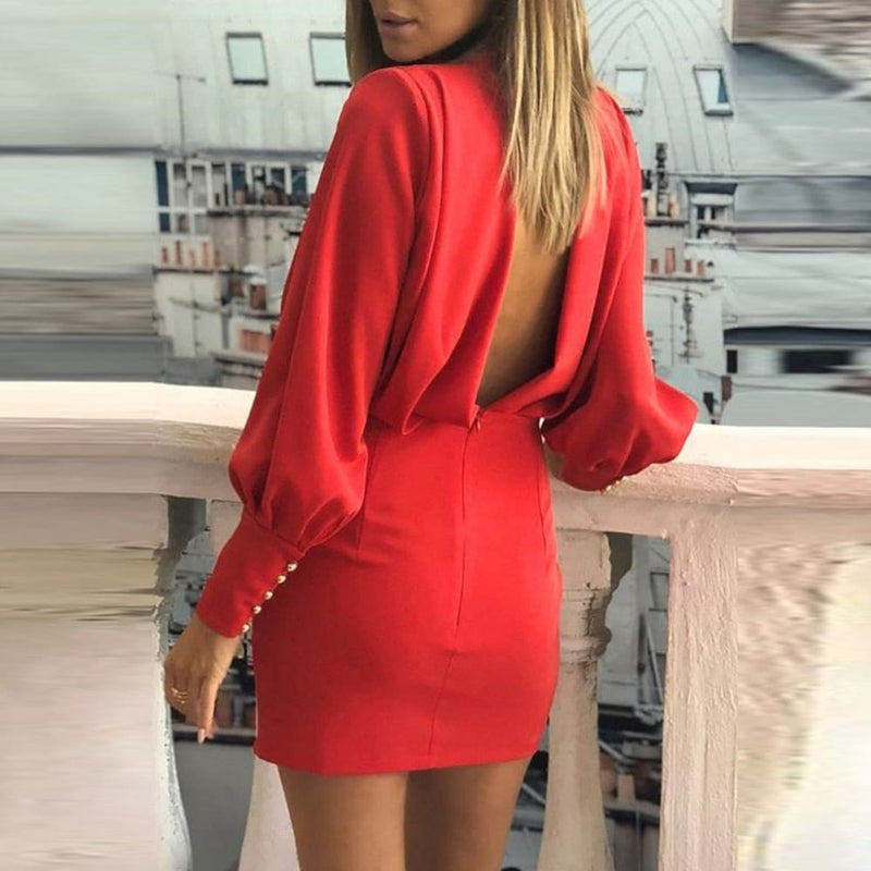 Confidence O-Neck Long Sleeve Dress