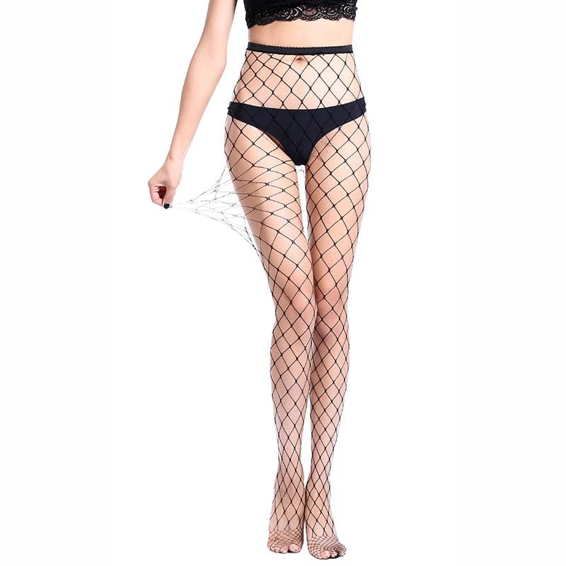 Mysterious Net Holes Thigh High Stockings - 4 Style / One Size