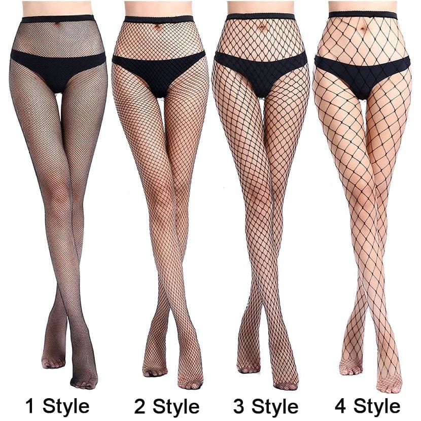 Mysterious Net Holes Thigh High Stockings