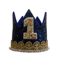 Navy and Gold Birthday Crown