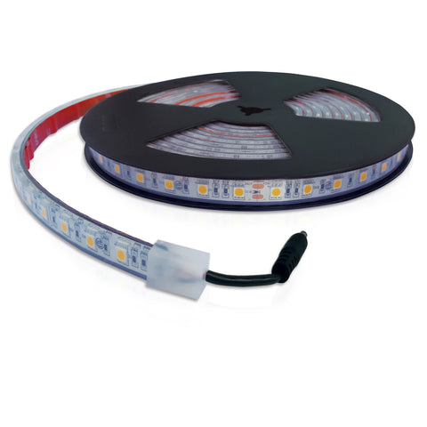 Lumilum IP67 Waterproof Silicone Coated 24V Low Voltage Tape Light, 3000K and 5500K Color Options