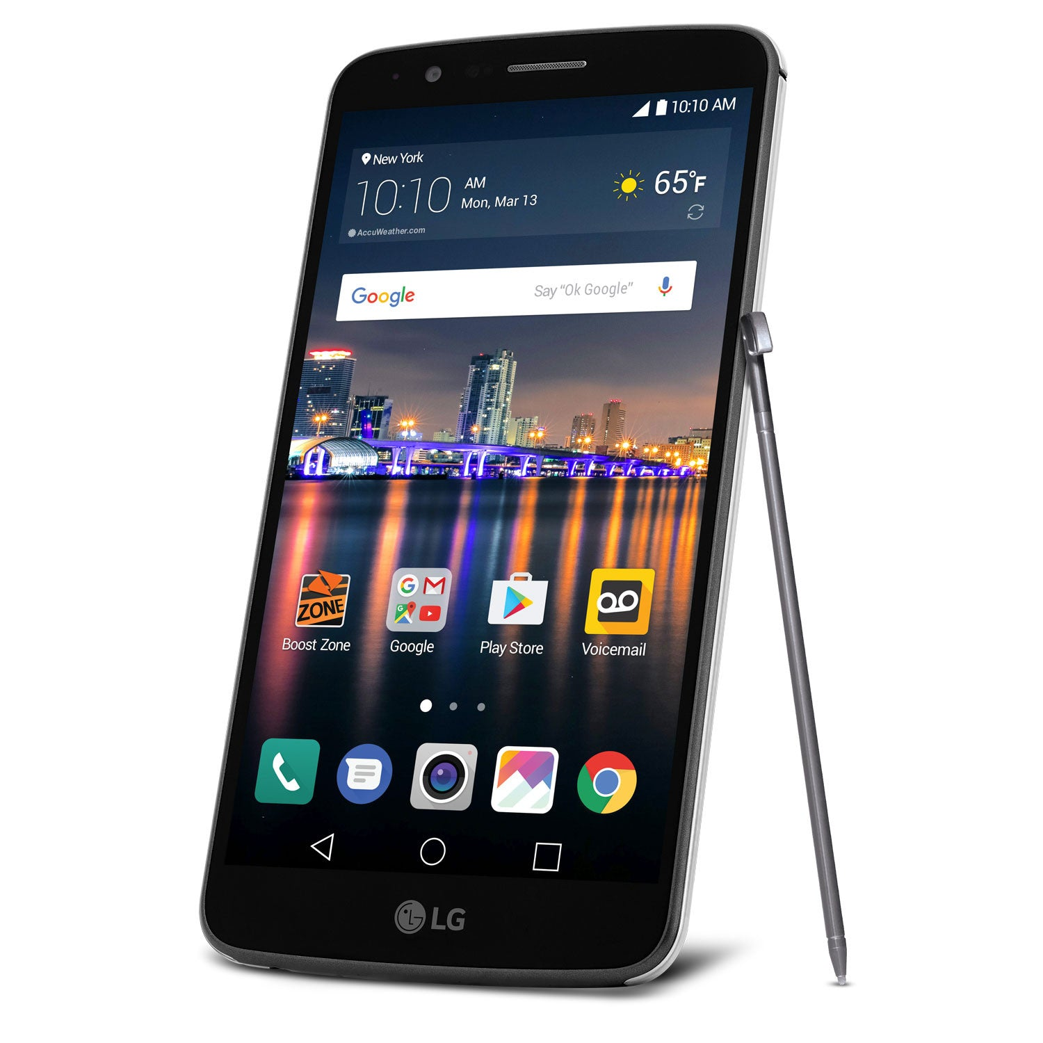 "LG Stylo 3 LTE 5.7"" Android Smartphone for Boost Mobile with $100 Mail in Rebate"
