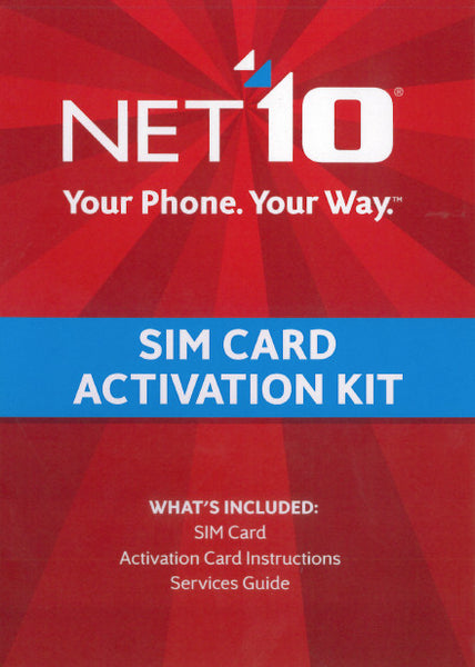 Net10 SIM Card with Activation Kit - shopcelldeals