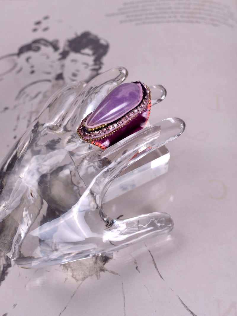DEEP PURPLE  SKY VELVET JADEITE  RING