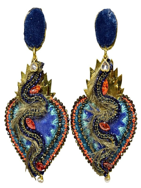 CORAZON SAGRADO SERPENT EARRINGS