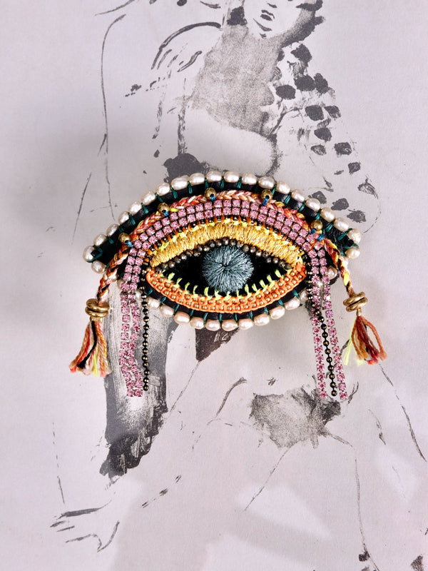 With Life Eye Brooch