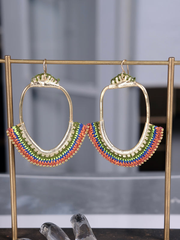 Golden moon gate Earrings