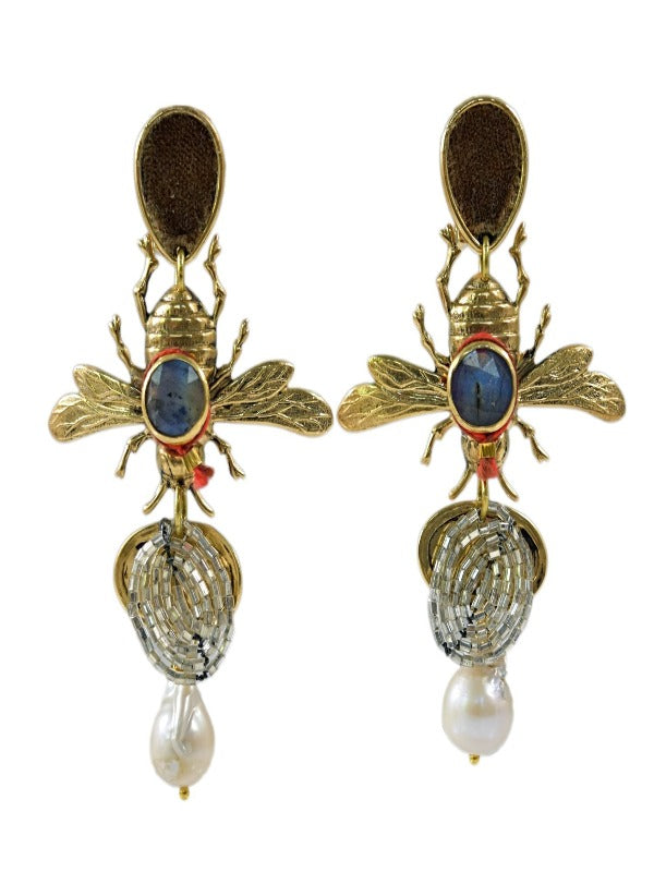 ABEJAS PEARL EARRINGS
