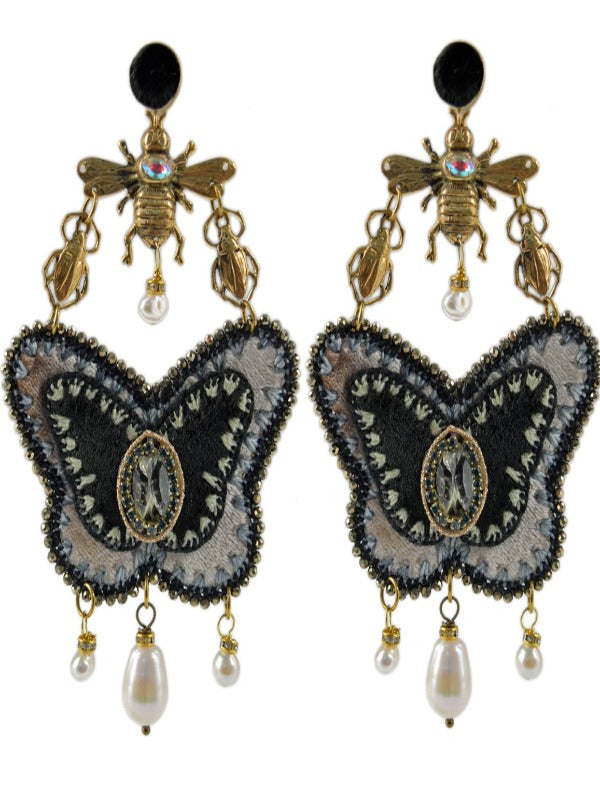 MARIPOSA ABEJA SCARABAJO EARRINGS