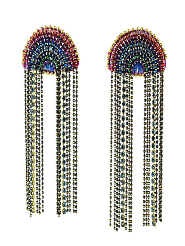 BLUE RAINBOW EARRINGS