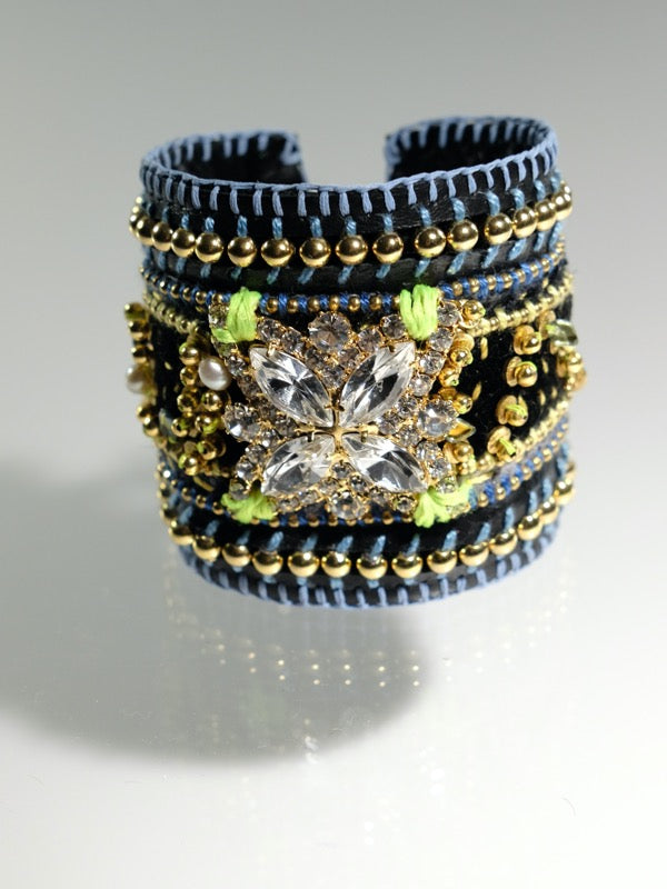 Starry Nights leather cuff