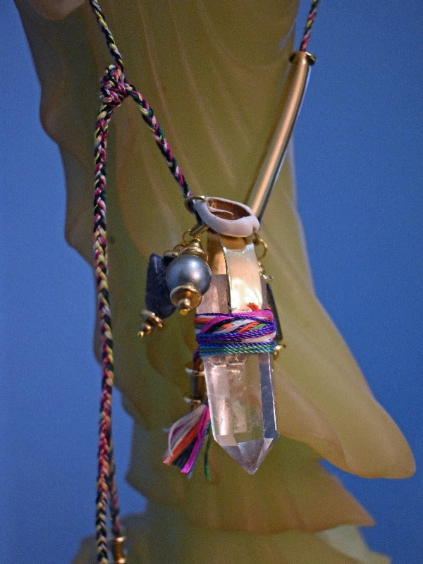SHAMAN TULUM  QUARTZ  NECKLACE