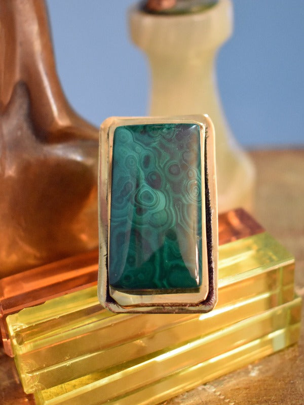 MALACHITE PROTECTION LARGE RING