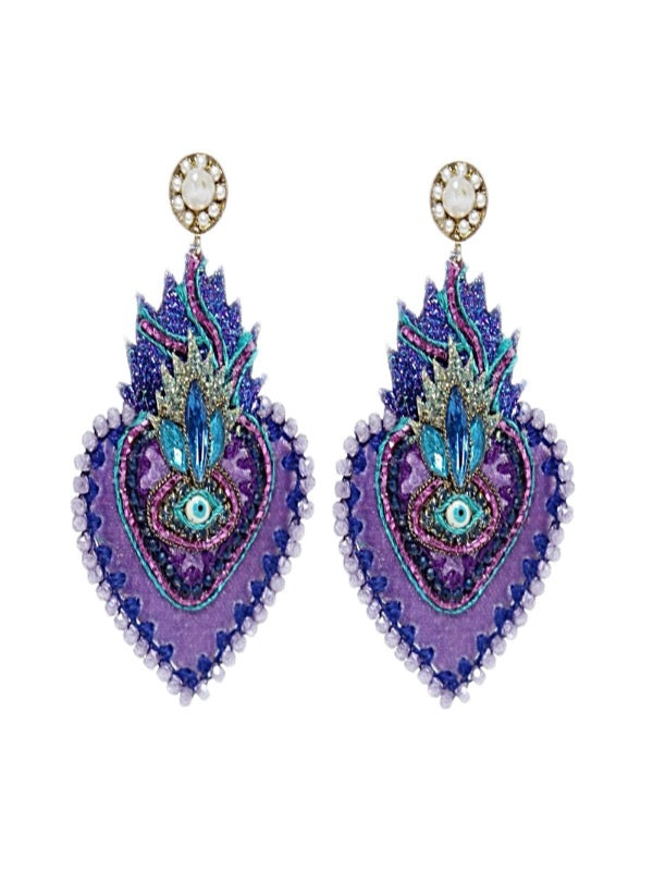 CORAZON SAGRADO LILAC EARRINGS