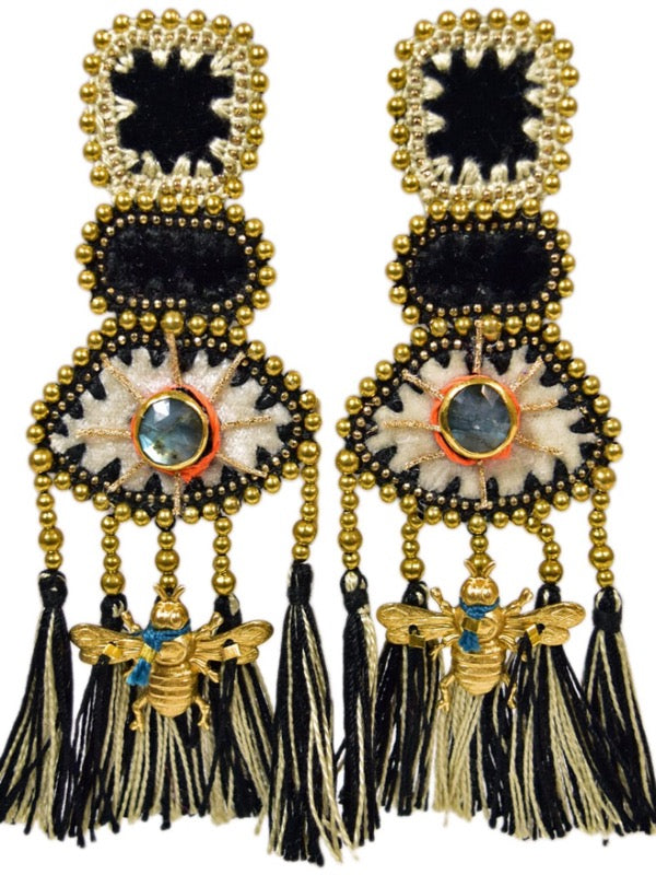 YUCATAN BLACK VELVET EARRINGS