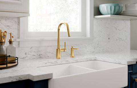 moen align brushed gold faucet touchless