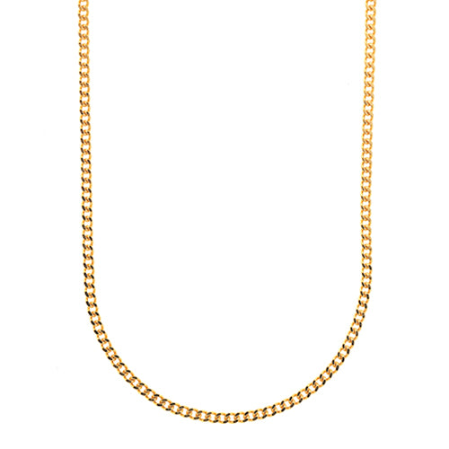 9ct Yellow Gold Curb Link Chain