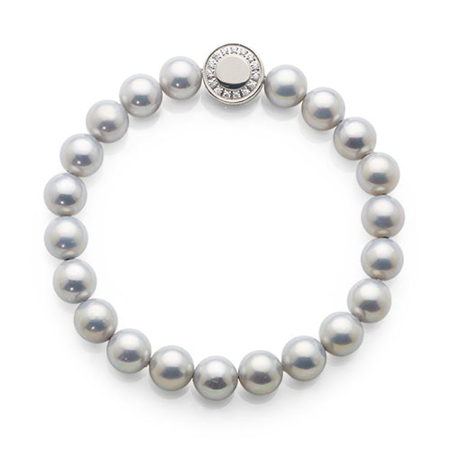 Stainless Steel Synthetic Pearl Bracelet