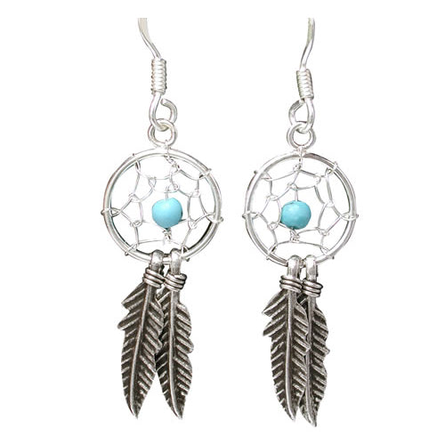 Sterling Silver 27mm Turquoise Dream-Catcher Hooks