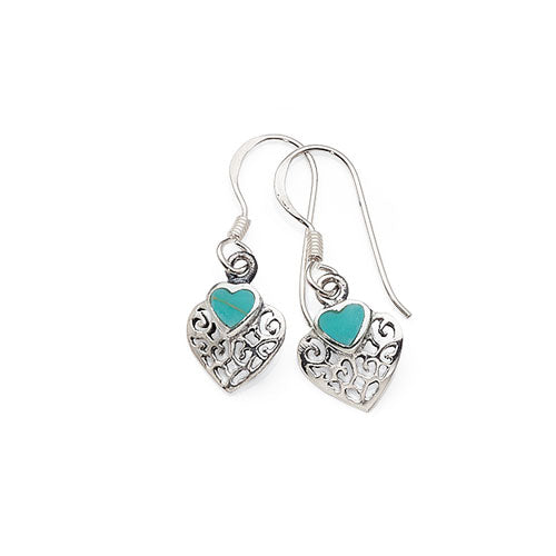 Sterling Silver Turquoise Hooks