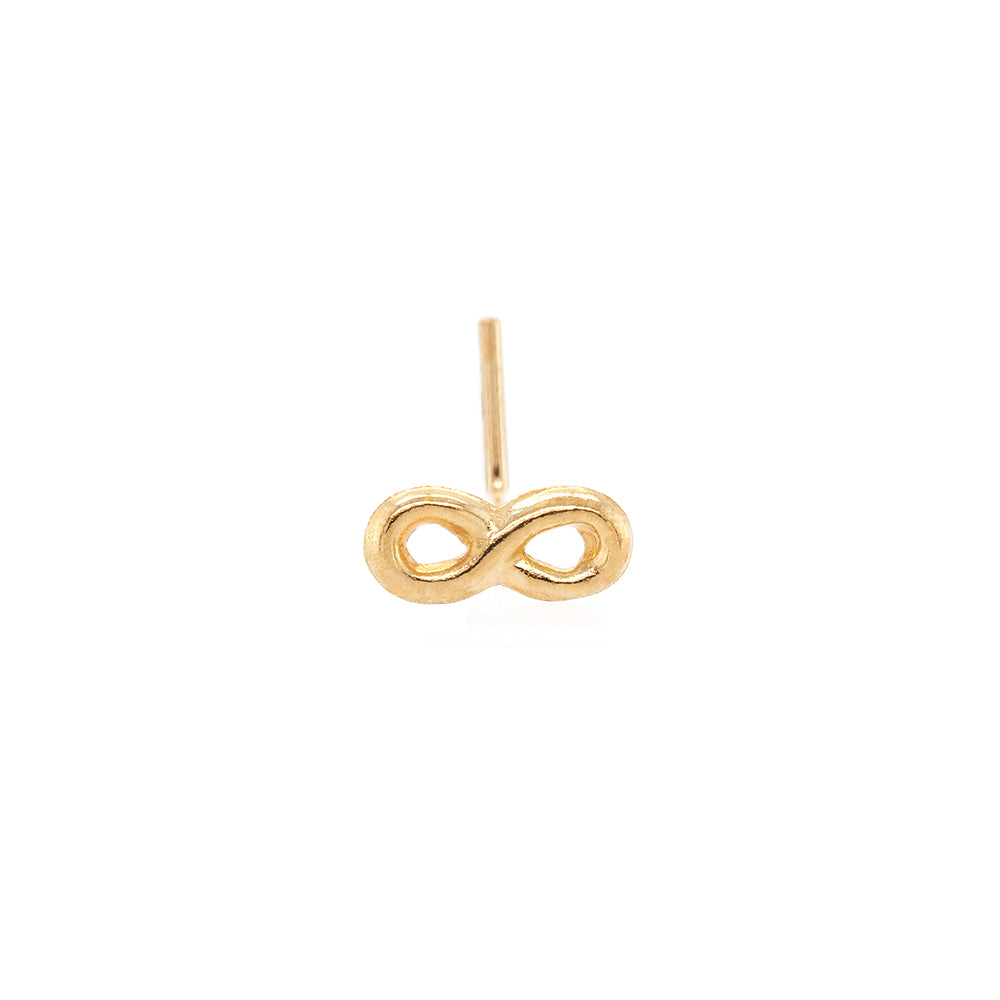 9ct Gold Infinity Nose Stud