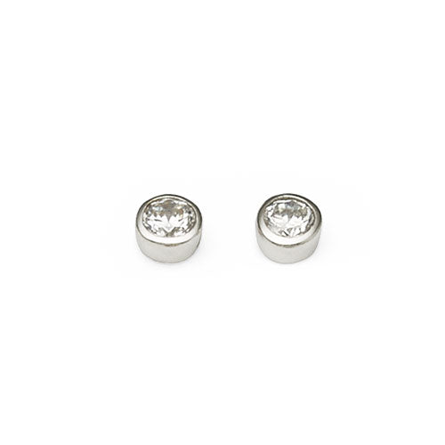 Sterling Silver Round Studs