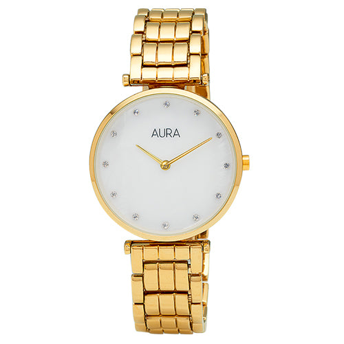 Aura Gold Tone Watch 129606