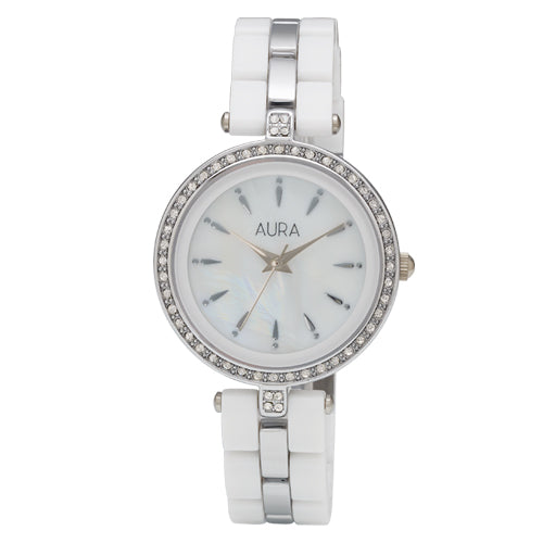 Aura White Acrylic Watch 130352