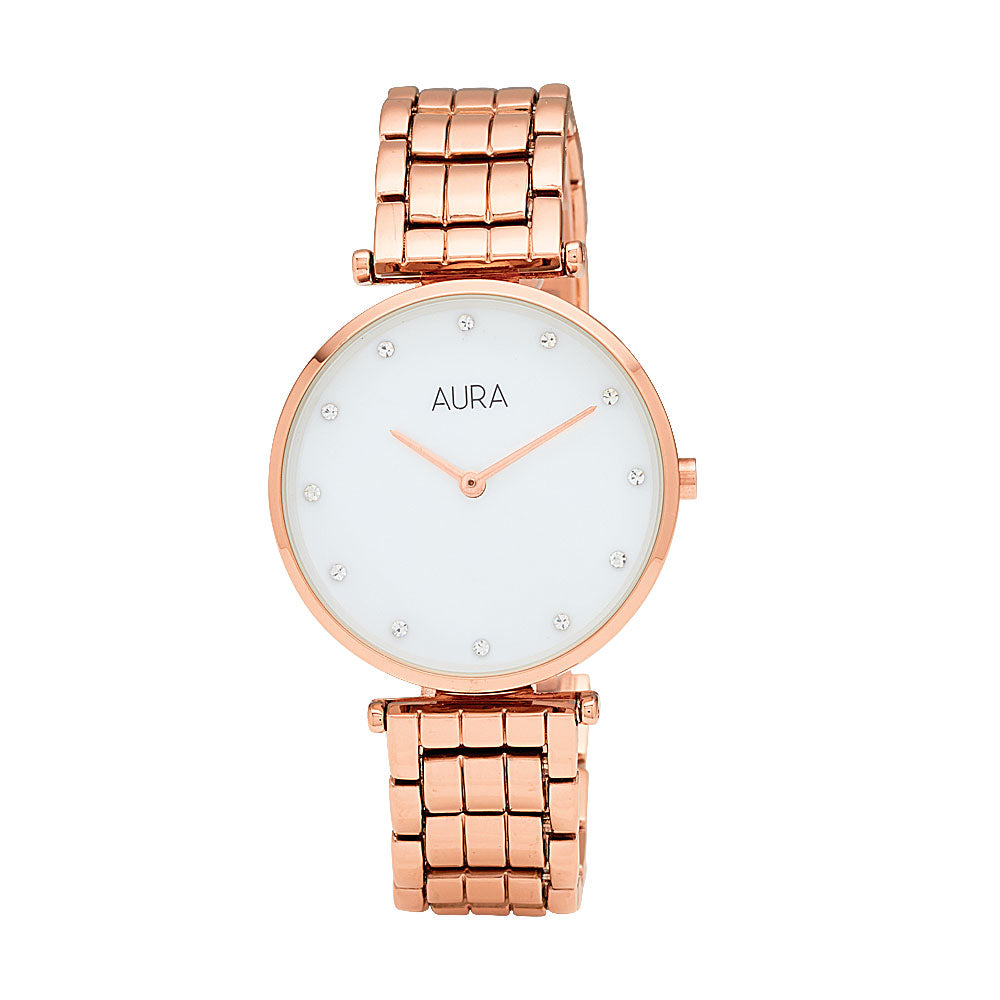 Aura Rose-Tone Watch 130358