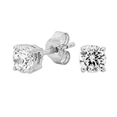 Georgini 5mm Sterling Silver CZ Studs E122