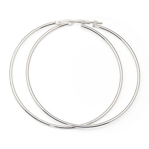 Sterling Silver 50mm Hoops