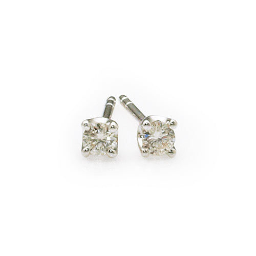 9ct White Gold Diamond Studs TW 0.10CT
